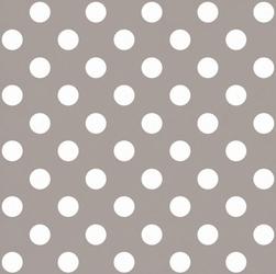 Tapeta szara w białe grochy szary beż