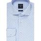 Elegancka błękitna koszula profuomo w granatowy drobny wzór 41