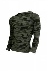 Koszulka męska thermo active military style długi rękaw khaki sesto senso