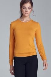 Żółta bluzka dzianinowa - musztarda