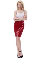 Elegancka elastyczna ołówkowa czerwona spódnica