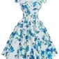 Rozkloszowana kwiatowa sukienka pin-up, swingdress, vintage  001