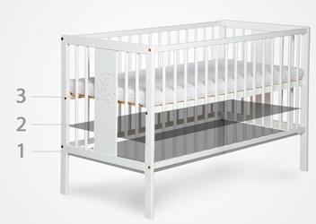 Skandynawskie łóżeczko dziecięce tapczanik noah 120x60