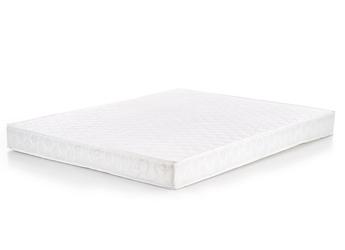 Tapicerowane łóżko z wezgłowiem w kolorze białym samara 180