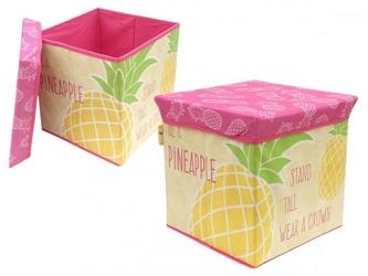 Pufa pudełko pojemnik zaska - ananas