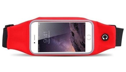 Uniwersalna saszetka nerka pas na telefon 4.7 - czerwona