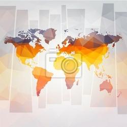 Fototapeta nowoczesna koncepcja wektora mapa świata