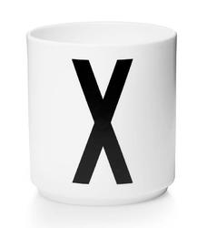 Kubek porcelanowy AJ litera X