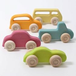 Samochodziki 5 szt., Slimeline, kolorowe, Grimms