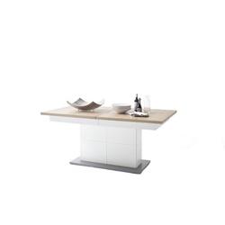 Stół rozkładany vence biały matdąb naturalny