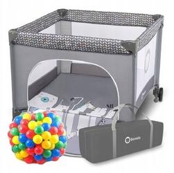 Lionelo sofie grey scandi kojec dla dziecka + 62 piłeczki