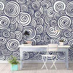 Tapeta na ścianę - marine swirls , rodzaj - tapeta flizelinowa