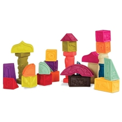 Klocki miękkie – zestaw duży mt elemenosqueeze, b.toys