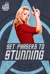 The big bang theory set phasers to stunning - plakat