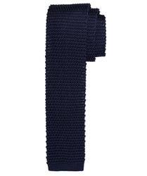 Granatowy krawat z dzianiny jedwabnej profuomo