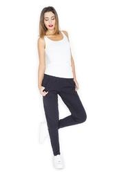 Czarne spodnie dresowe joggersy ze zwężanymi nogawkami
