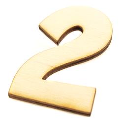 Drewniana cyfra 6 cm - 2 - 2