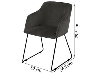 Krzesło casa szare welur