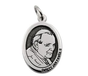 Medalik srebrny z wizerunkiem ojca świętego jana pawła ii med-jp2-01