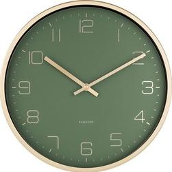 Zegar ścienny Gold Elegance zielony