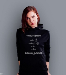 I stała się jasność damska bluza z kapturem czarna l