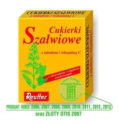 Reutter cukierki szałwiowe z miodem i witaminą c 50g
