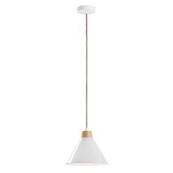 Metalowa lampa sufitowa bobs biała