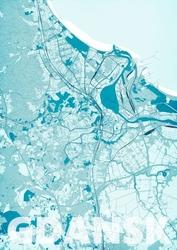 Gdańsk - błękitna mapa