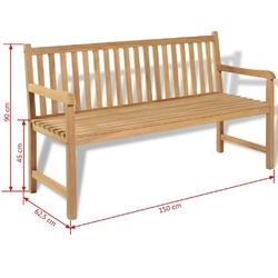 Ławka do ogrodu 150 cm kimi drewniana