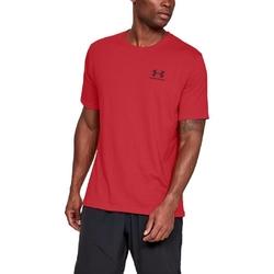 Koszulka męska under armour sportstyle left chest ss - czerwony