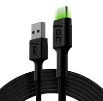 Green cell kabel gc ray usb-usb-c 200cm, podświetlenie led