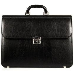 Elegancka czarna teczka biznesowa d770