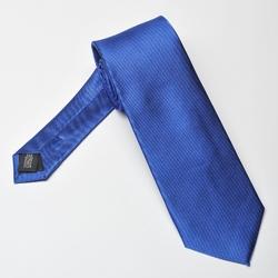 Niebieski krawat jedwabny 7,5cm