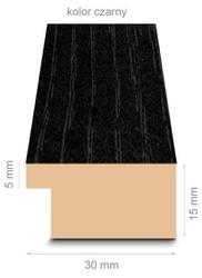 Czarna rama 47x67 cm