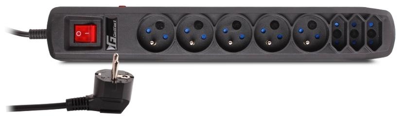 Listwa antyprzepięciowa Getfort 8A 1,5m Czarna - Szybka dostawa lub możliwość odbioru w 39 miastach