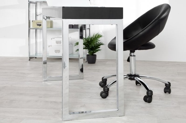 Nowoczesne czarne biurko black desk idealne pod laptopa 120 cm
