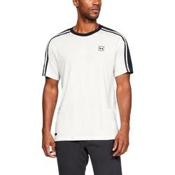 Koszulka męska under armour unstoppable striped ss t - biały