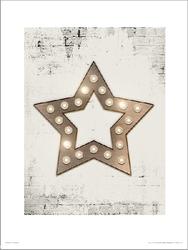 Christmas star lights - plakat premium