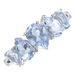 Starlight srebrny pierścionek z topazem, delikatny 2,8 ct