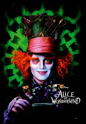 Alice in Wonderland - Johnny Depp - plakat