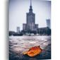 Warszawa pałac kultury i nauki jesienna impresja - obraz na płótnie wymiar do wyboru: 90x120 cm