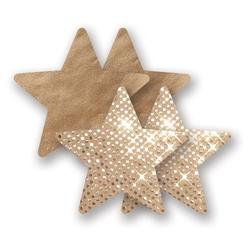 Nakładki na sutki bieliźniane - nippies solid superstar star