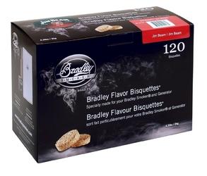 Bradley bisquettes - jim beam - opakowanie 120 sztuk --- oficjalny sklep bradley