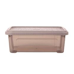 Pojemnik  organizer do przechowywania modułowy tontarelli combi box z pokrywką arianna taupe 2,5 l