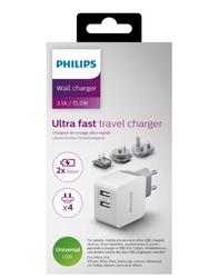 Philips ładowarka podróżna 2 usb, 5v  3.1a