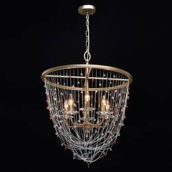 Lampa wisząca z kolorowymi kryształkami valencia chiaro classic 299011906
