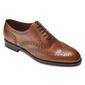 Eleganckie jasnobrązowe skórzane buty męskie typu brogue 7