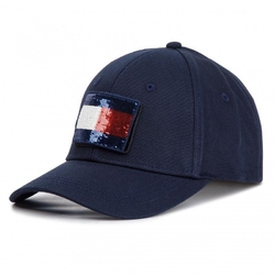 Czapka z daszkiem tommy hilfiger swap your patch cap - aw0aw06182-413