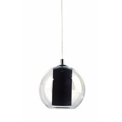 Kaspa - lampa wisząca l - merida - abażur czarny - czarny
