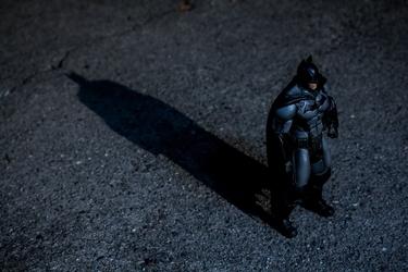 Batman przyszłości - cień - plakat wymiar do wyboru: 60x40 cm